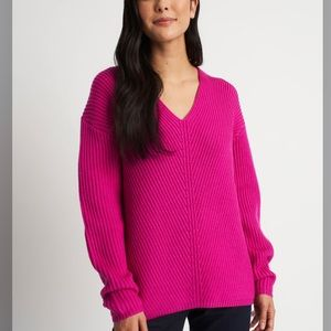 Kit and Ace Cloud Merino Wool sweater in hot pink size L NWOT!